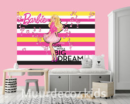 Barbie behang Big Dream V2