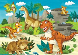 Dinosaurus behang Dino vriendjes XXL