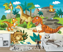 Dinosaurus behang Dino vriendjes XL