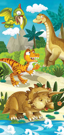 Dinosaurus muursticker Dino vriendjes
