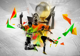 Voetbal fotobehang Victory