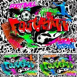 Voetbal Graffiti fotobehang