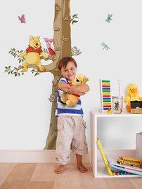 Winnie the Pooh muursticker Meetlat
