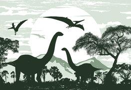 Dinosaurus behang Groen 2