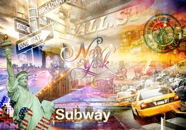 New York fotobehang Signs