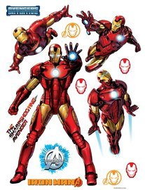 Iron Man muurstickers XL