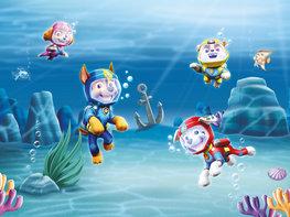 Paw Patrol fotobehang Onderwater