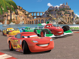Cars vlies fotobehang XL Race Italië