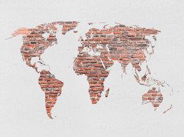 Stenen wereldkaart fotobehang XL