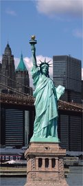Deurposter New York - Vrijheidsbeeld