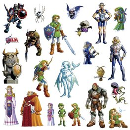 Legend of Zelda muurstickers Ocarina of Time