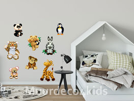Jungle muurstickers Knuffeldieren set I