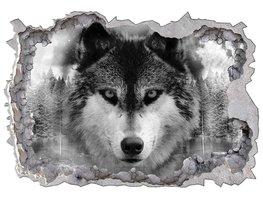 3D fotobehang Wolf