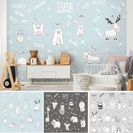 Dieren behang Cute Animals