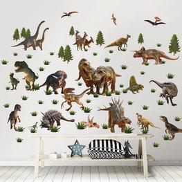 Dinosaurus muurstickers Dinoland WT
