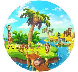 Behangcirkel Jungle Safari