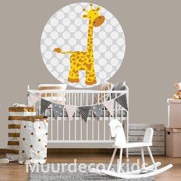 Behangcirkel Giraffe