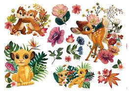 Disney muurstickers Simba en Bambi