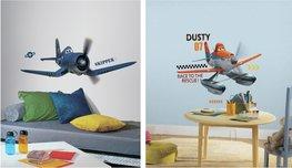 Planes muurstickers Dusty en Skipper