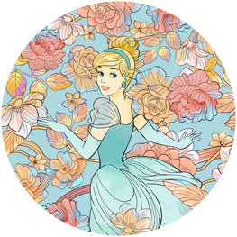 Behangcirkel Disney Princess Assepoester
