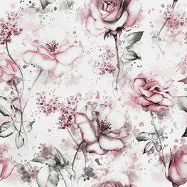 Roze rozen fotobehang