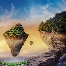 Fantasy Island fotobehang