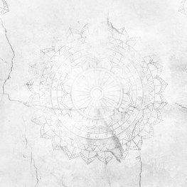 Mandala fotobehang Beton licht