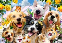 Huisdieren muursticker Selfie