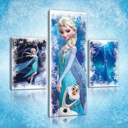 Disney Frozen canvas set Elsa en Olaf