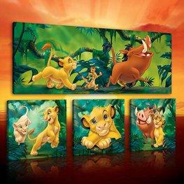 Lion King canvas set 4-delig