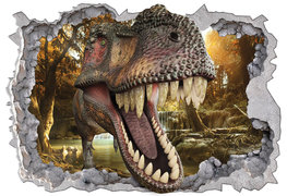 Dinosaurus 3D muursticker Waterval