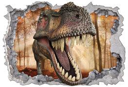 Dinosaurus 3D muursticker Bos