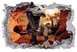 Dinosaurus 3D muursticker Grot