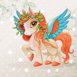 Flying Pony behang Ruby