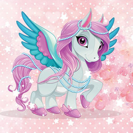 Flying Pony behang Pearl
