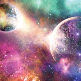 Colourful Space fotobehang