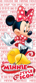 Minnie Mouse deurposter Rood