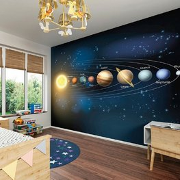 Planeten vliesbehang XL
