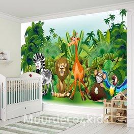 Jungle Animals fotobehang