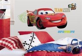 Cars muursticker Bliksem McQueen team