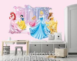 Disney Princess behang 3D-effect