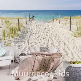 Strand fotobehang Naar het strand