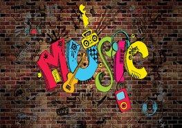 Graffiti fotobehang Music II