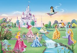 Disney Princess XL behang Castle