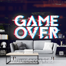 Game behang Game Over