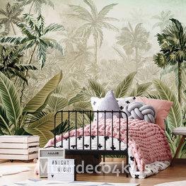 Botanisch behang Jungle