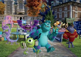 Monsters University Campus fotobehang
