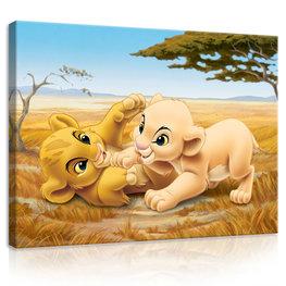 Lion King canvas Simba en Nala