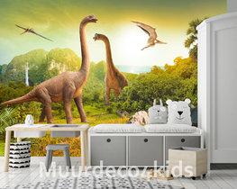 Dinosaurus vliesbehang Dinowereld XL