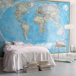 Wereldkaart behang The World Political